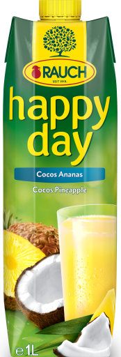Happy Day Cocos-Ananas 1 l Tetra-Pack