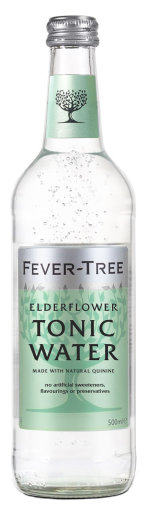 Fever Tree Elderflower Tonic Water 0,5 l Glas Mehrweg