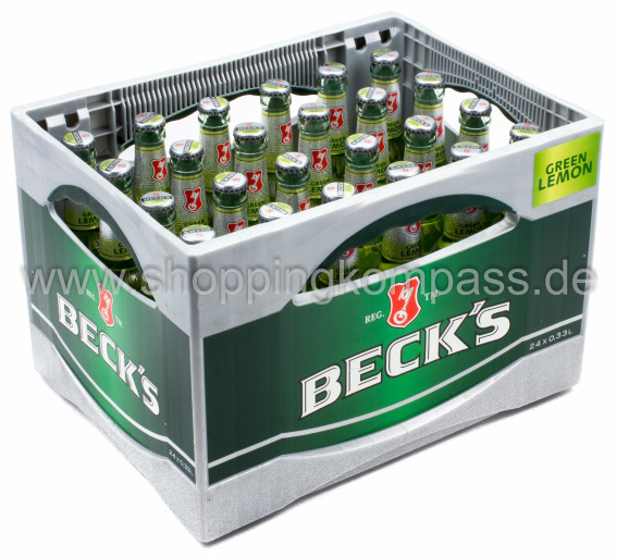 Becks Green Lemon Kasten 24 x 0,33 l Glas Mehrweg