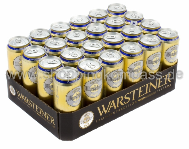 Pils Export Warsteiner Pils Karton 24 X 05 L Dose