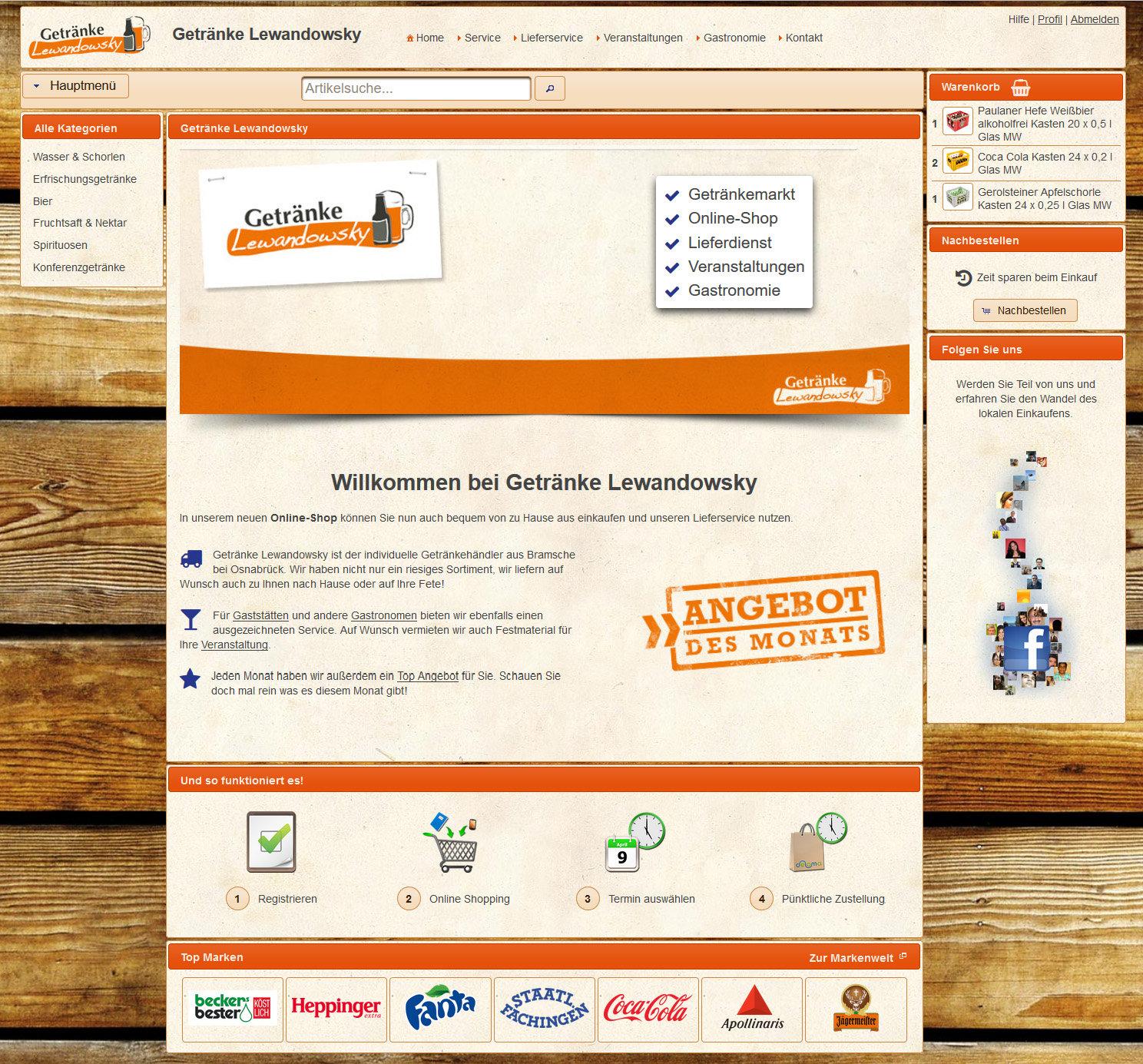 News - Neuer Händler - Getränke Lewandowsky aus Bramsche