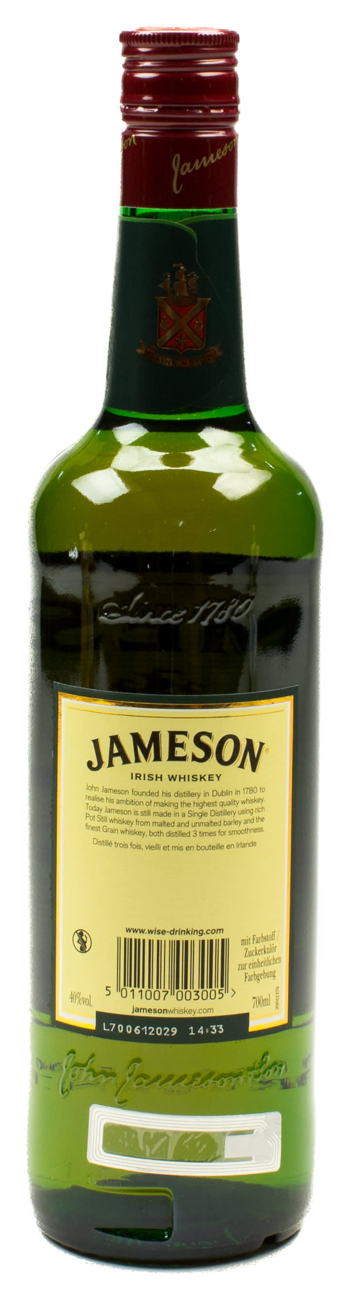 Jameson Irish Whiskey 0,7 l Glas