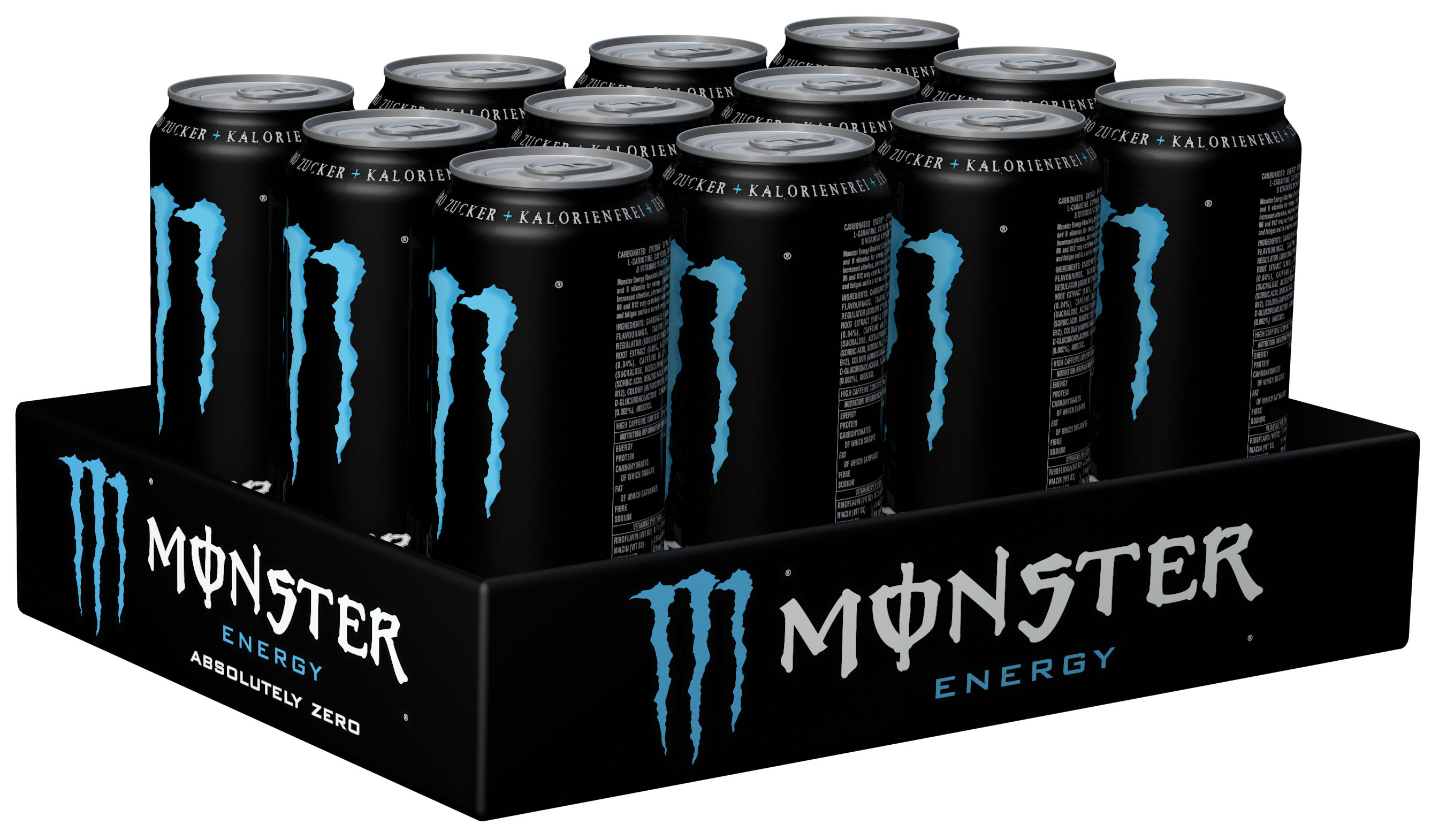 Monster Energy Absolutely Zero Karton 12 x 0,5 l Dose Einweg