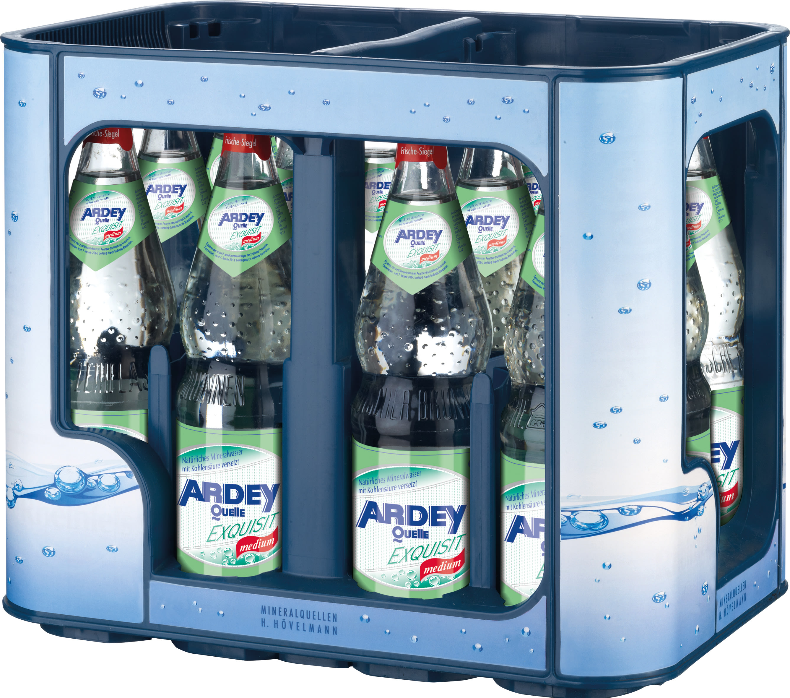 Ardey Quelle Exquisit Medium Kasten 12 x 0,7 l Glas Mehrweg