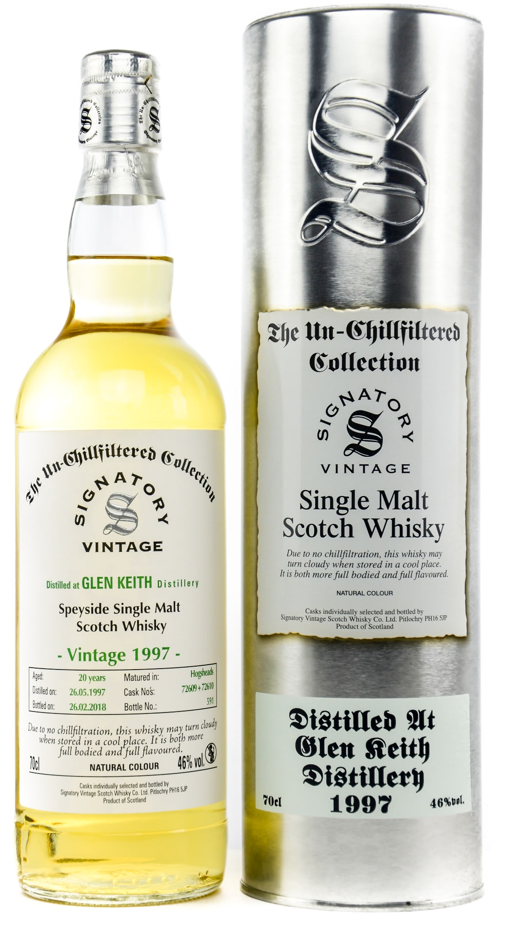 Signatory Vintage Glen Keith 20 Years Speyside Single Malt Scotch Whisky 0,7 l