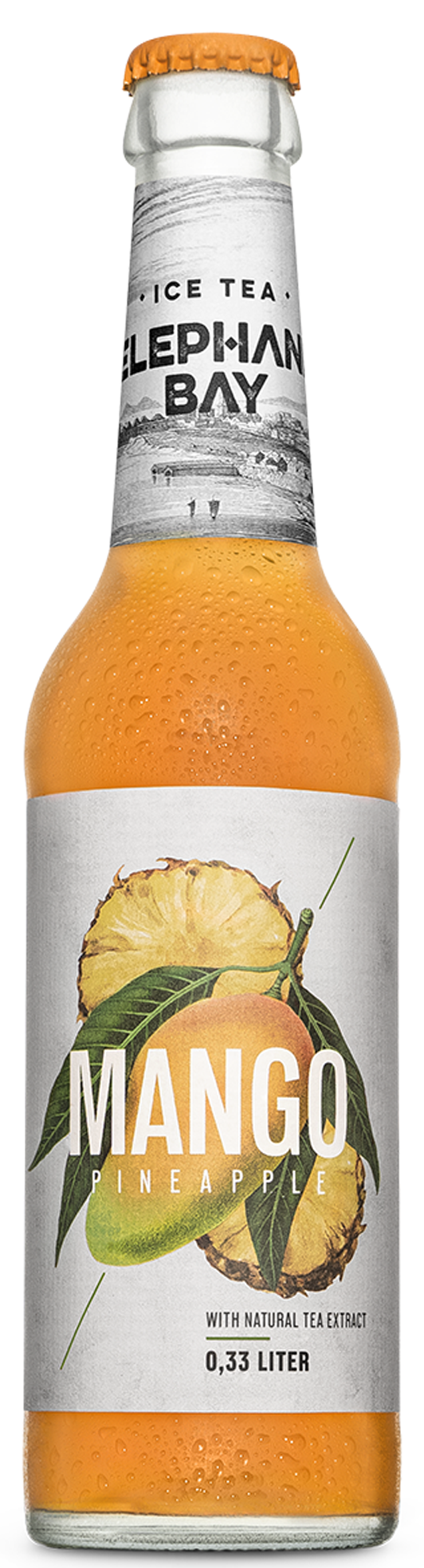 Elephant Bay Ice Tea Mango Pineapple 0,33 l Glas Mehrweg