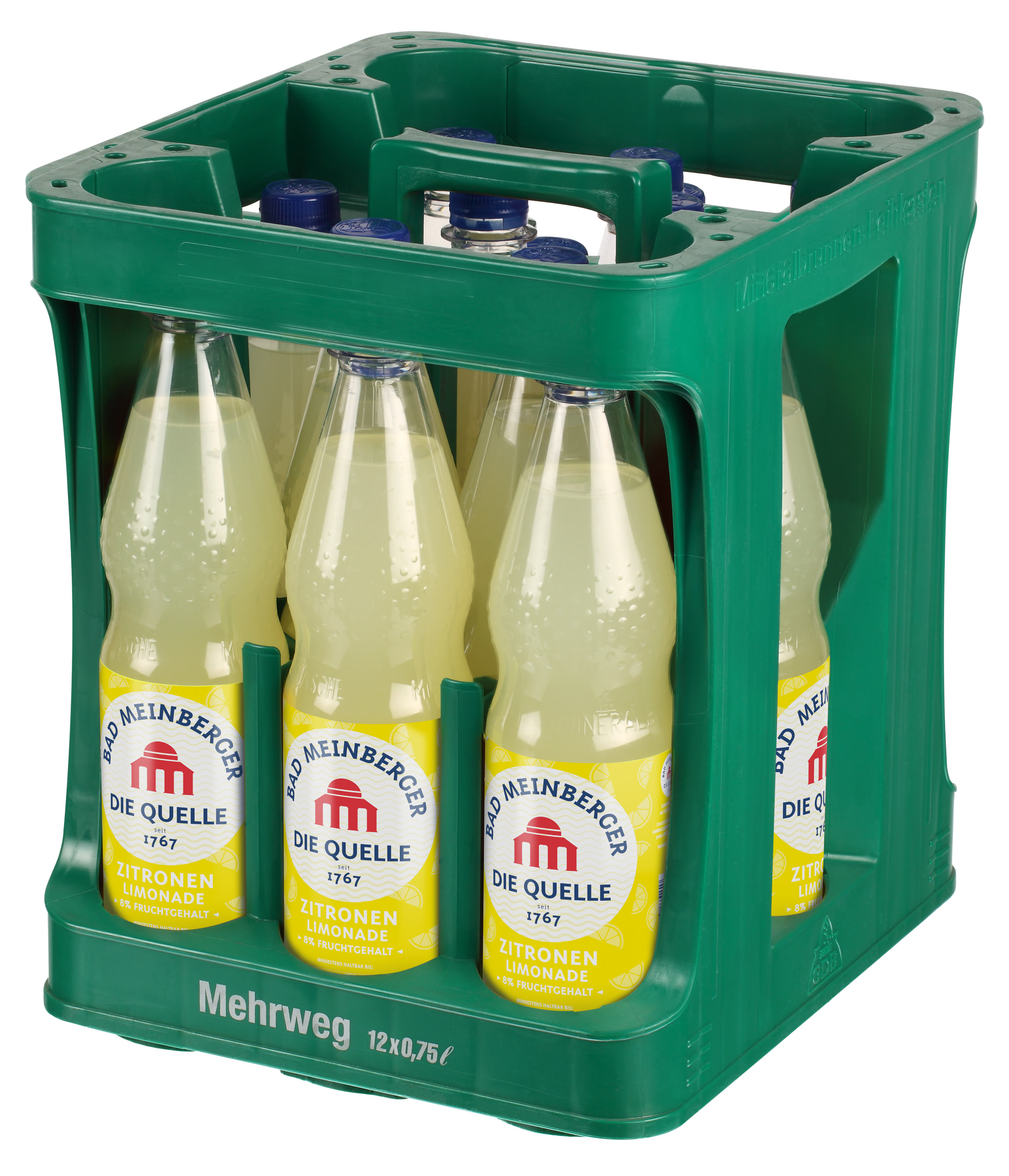 Bad Meinberger Zitrone Limonade Kasten 12 x 0,75 l PET Mehrweg