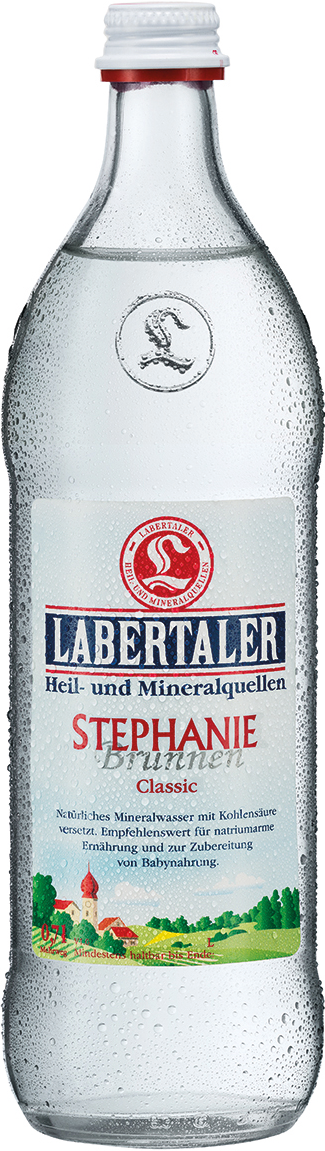 Labertaler Stephanie Brunnen Mineralwasser Medium 0,7 l Glas Mehrweg