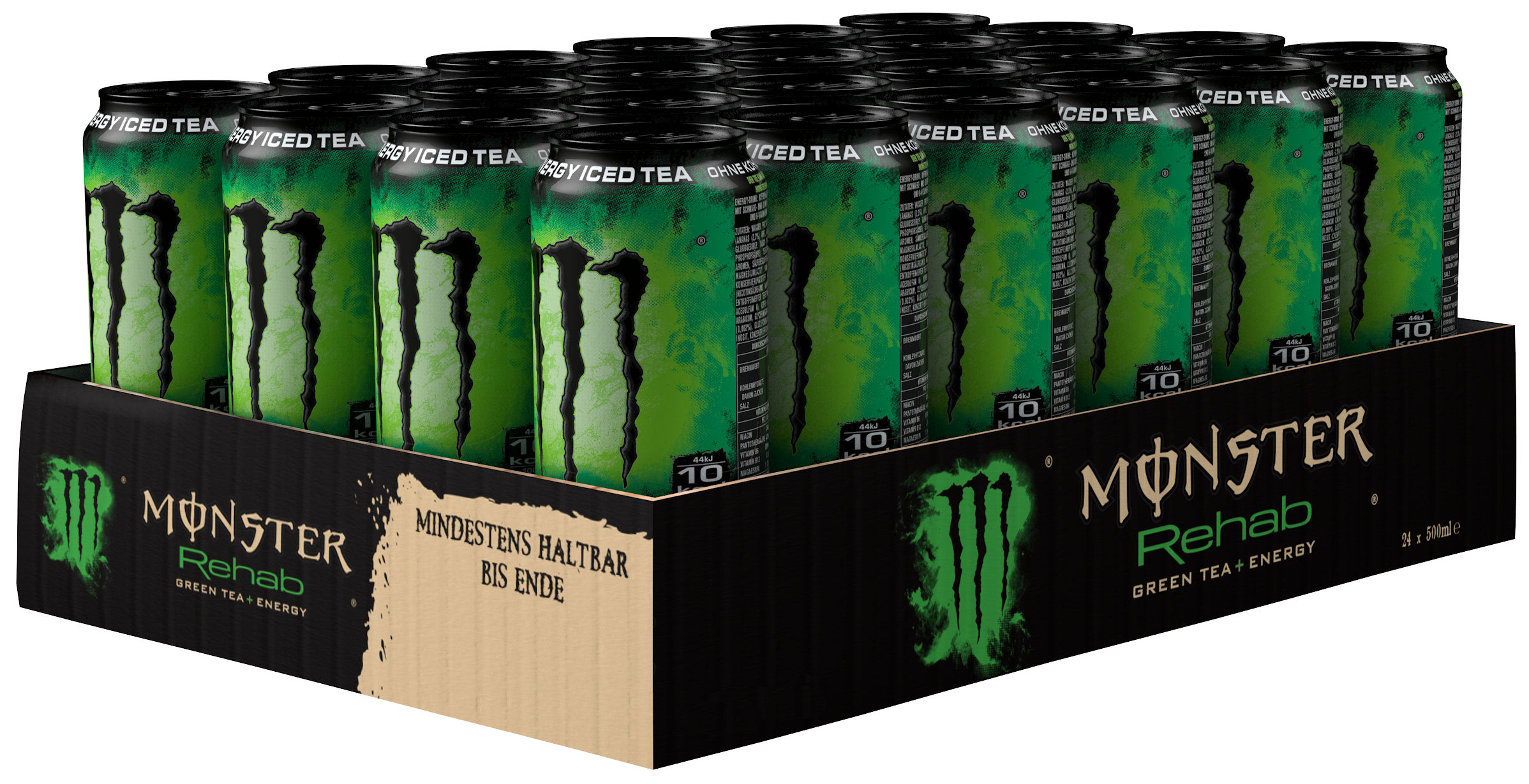 Monster Rehab Green Tea + Energy Karton 24 x 0,5 l Dose Einweg