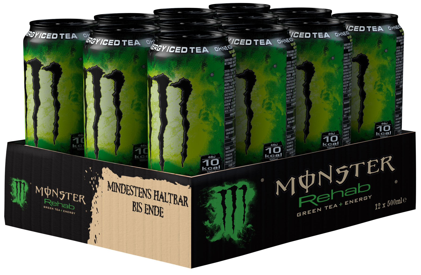 Monster Rehab Green Tea + Energy Karton 12 x 0,5 l Dose Einweg