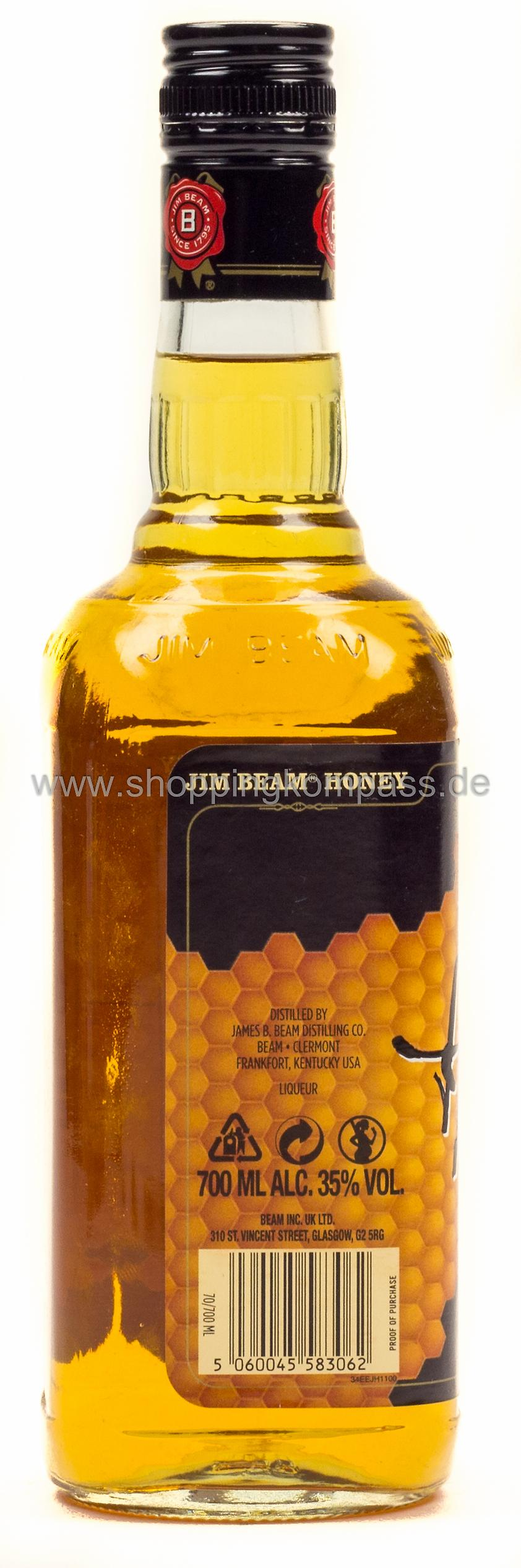 Jim Beam Bourbon Whiskey & Honig 0,7 l Glas