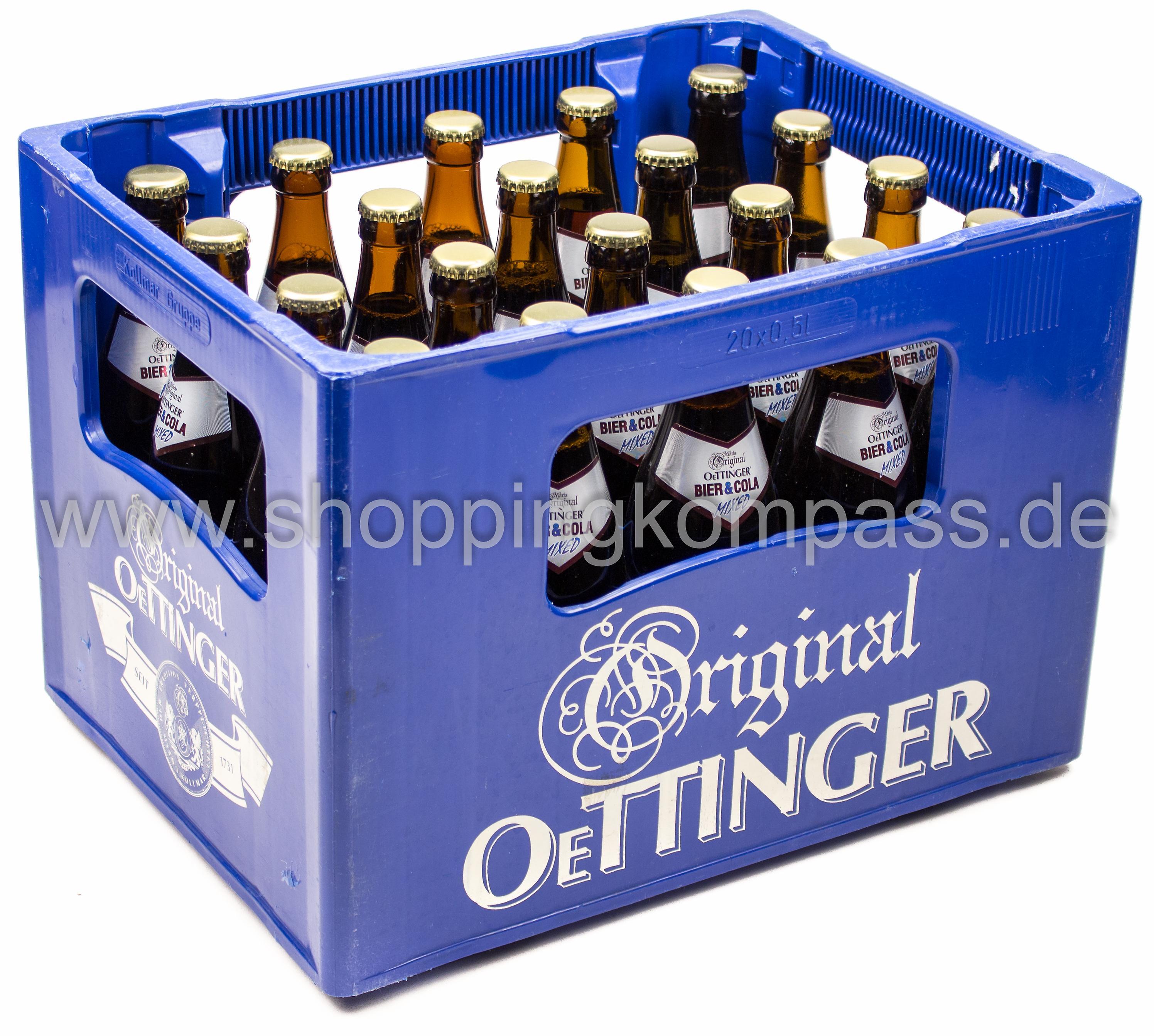 Oettinger Bier Und Cola Kasten 20 X 05 L Glas Mehrweg