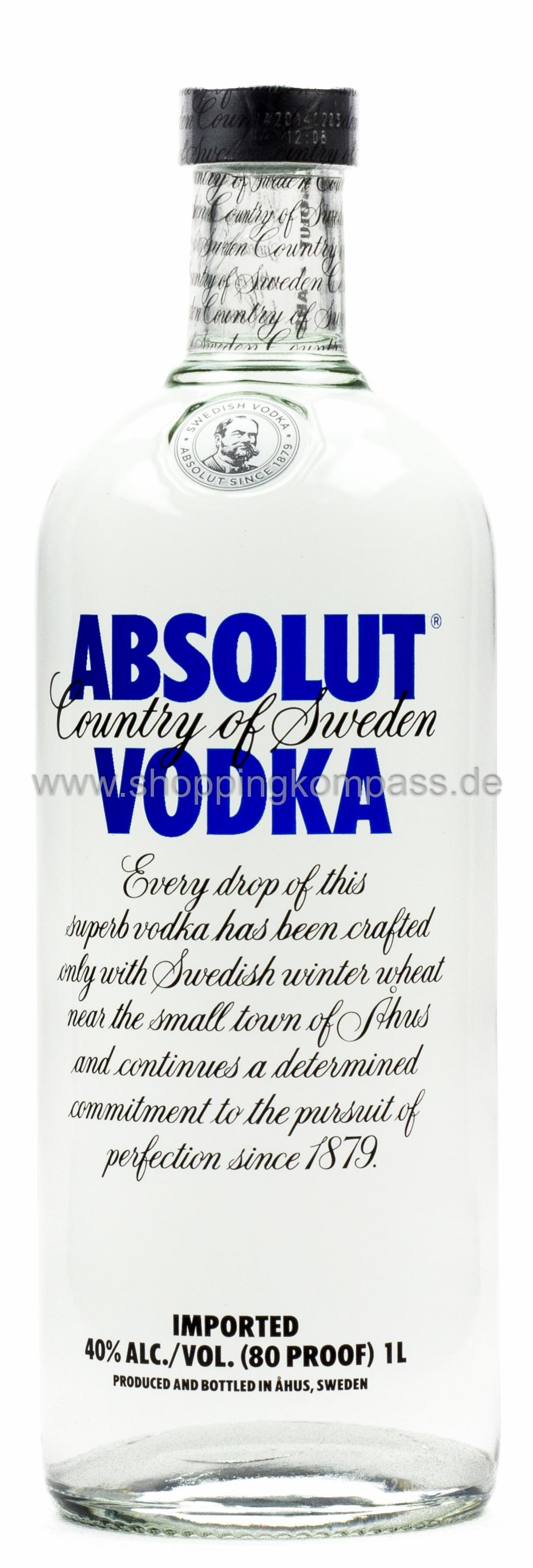 Absolut Vodka Imported 1 l