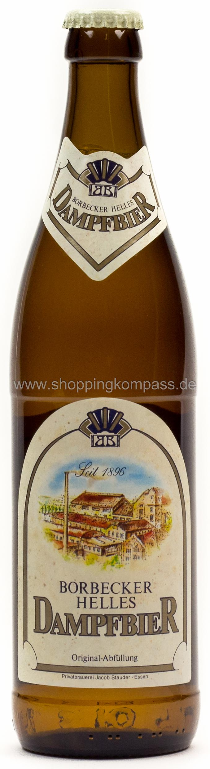 Helles Bier - Borbecker Dampfbier Hell 0,5 l Glas MW - Ihr ...