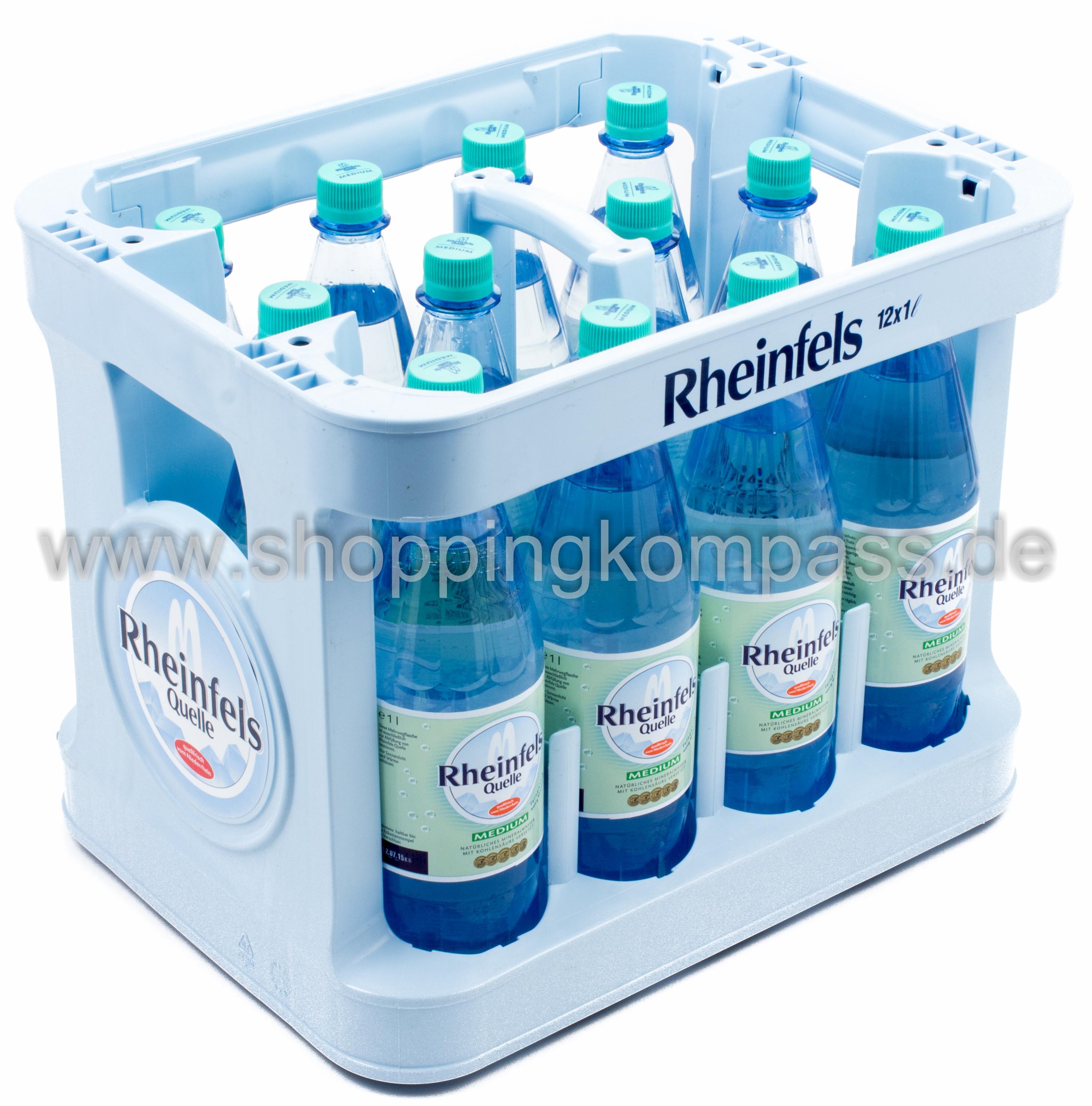 mineralwasser rheinfels quelle mineralwasser medium kasten 12 x 1 l pet mw ihr zuverl ssiger. Black Bedroom Furniture Sets. Home Design Ideas