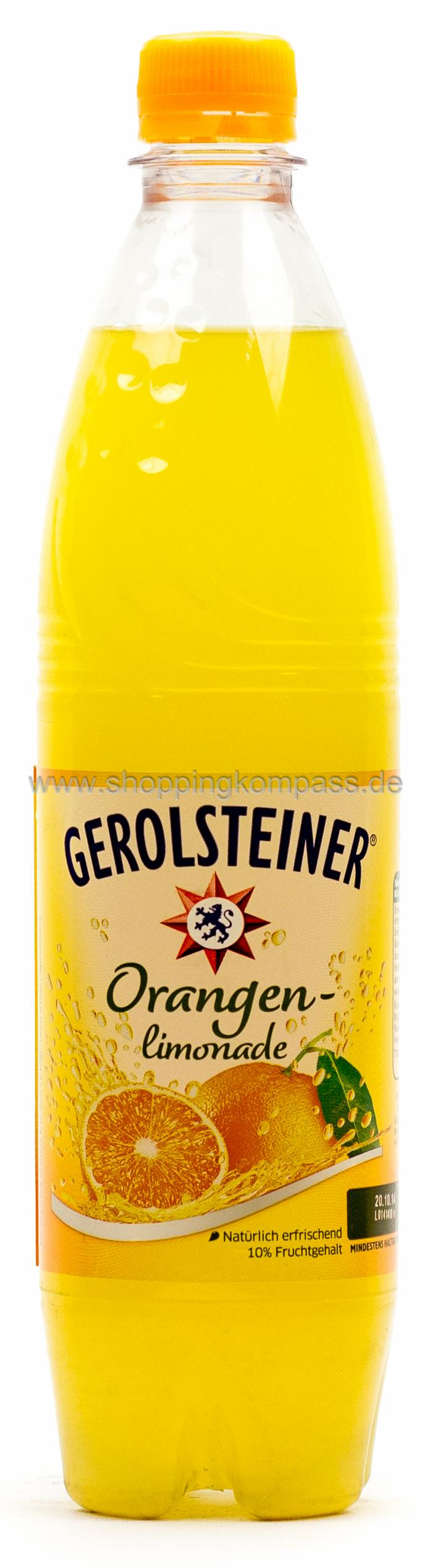 Gerolsteiner Limonade Orange 0,75 l PET Mehrweg