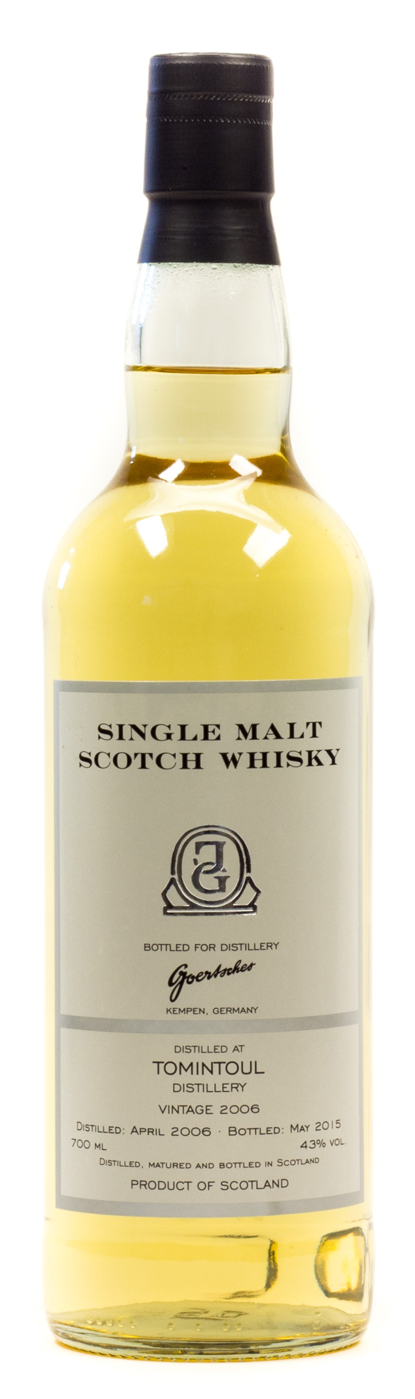 Tomintoul (Goertsches Bottling) Single Malt Scotch Whisky 0,7 l