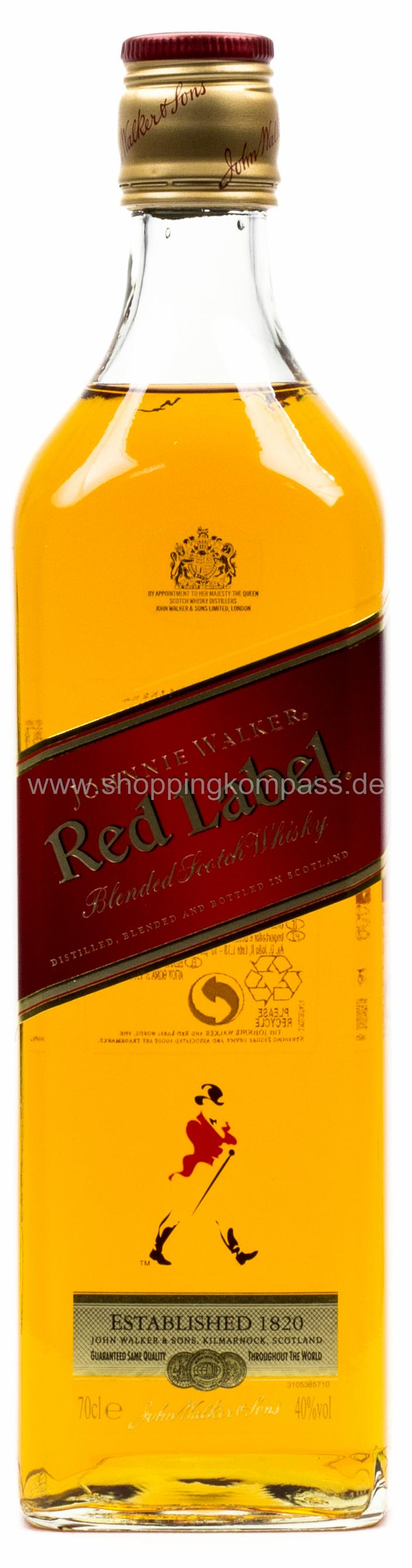 Johnny Walker Red Label Whiskey 0,7 l
