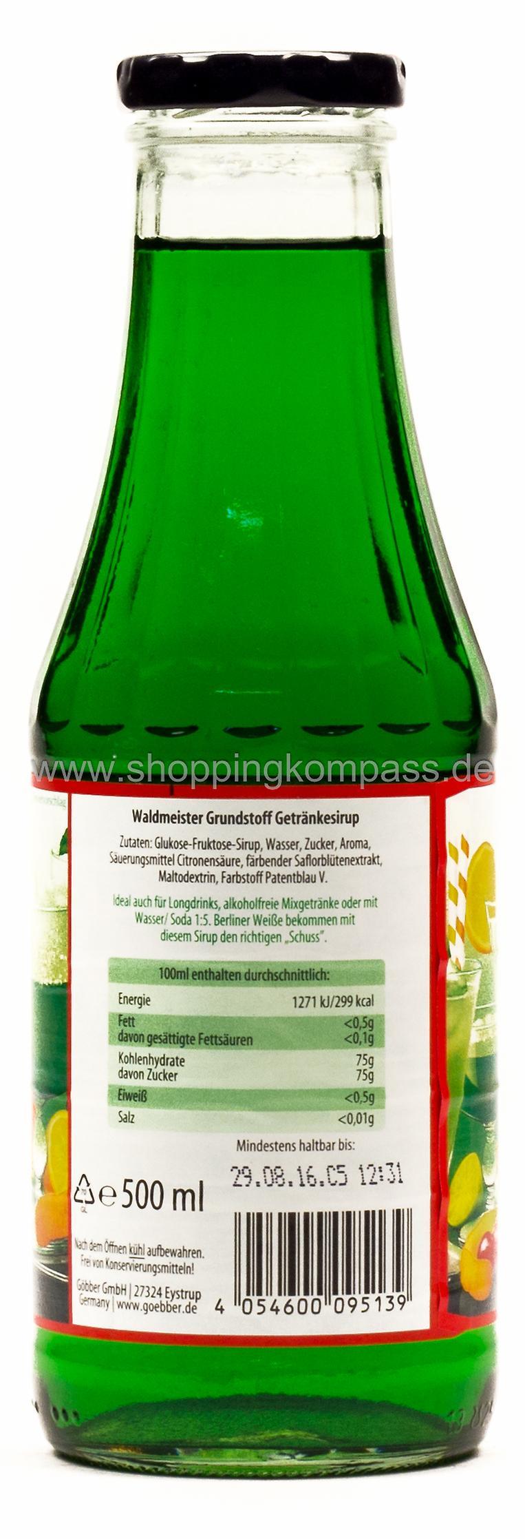 Sirup - Göbber Waldmeister Getränkesirup 0,5 l Glas EW - Ihr ...