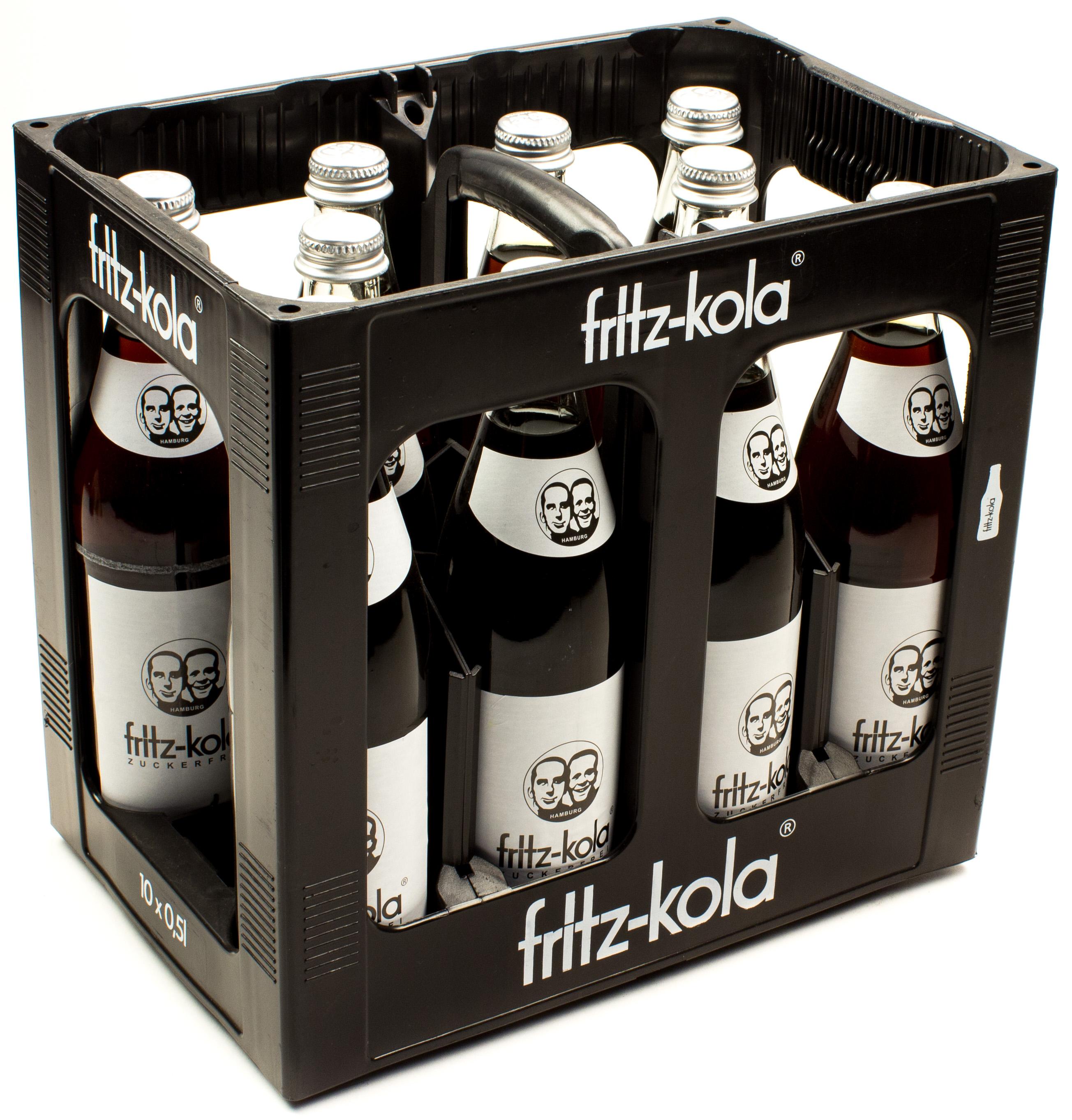 Cola & Colamixgetränke - Fritz Kola Zuckerfrei Kasten 10 x 0,5 l ...