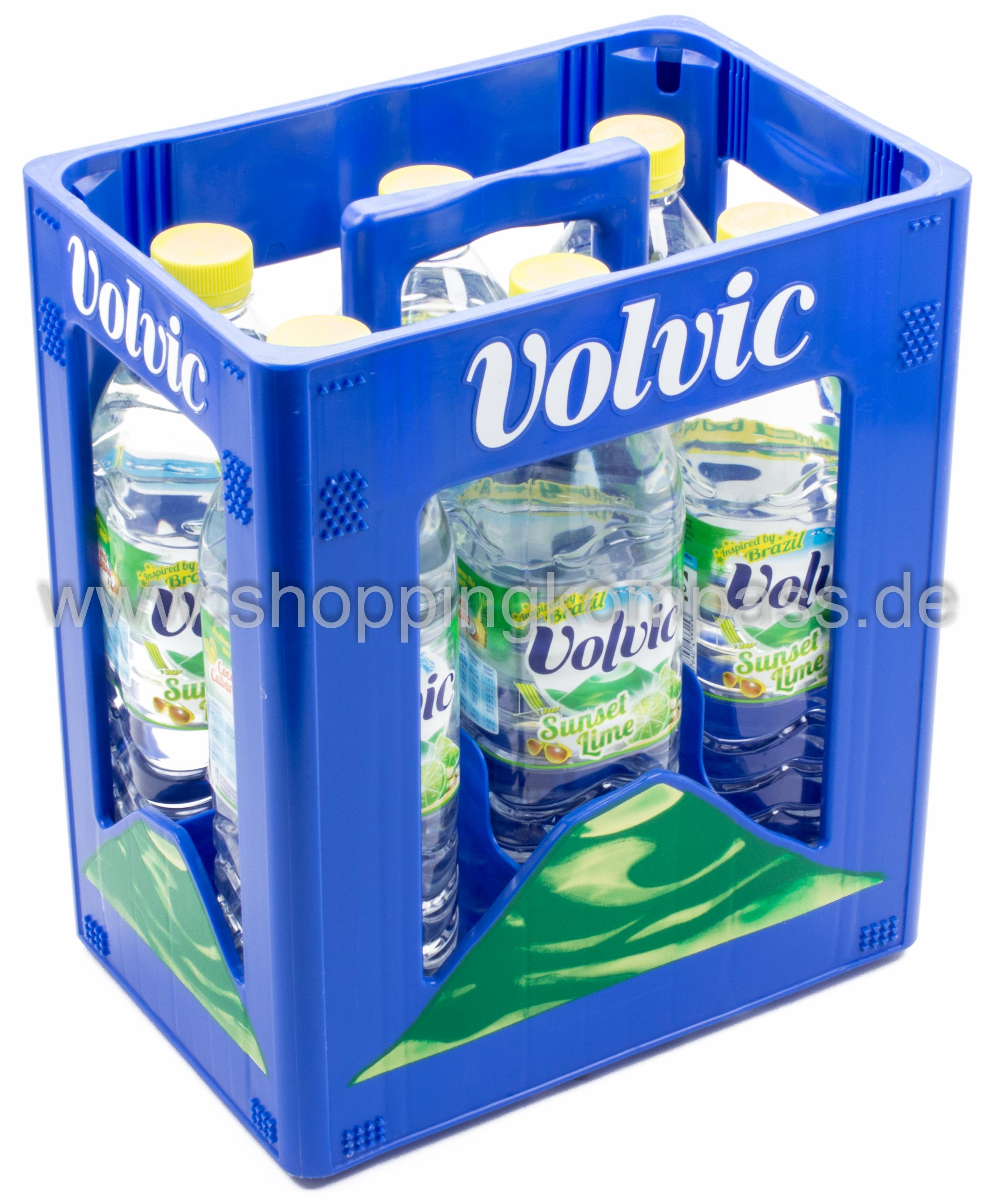 Volvic Sunset Lime Kasten 6 x 1,5 l PET Einweg