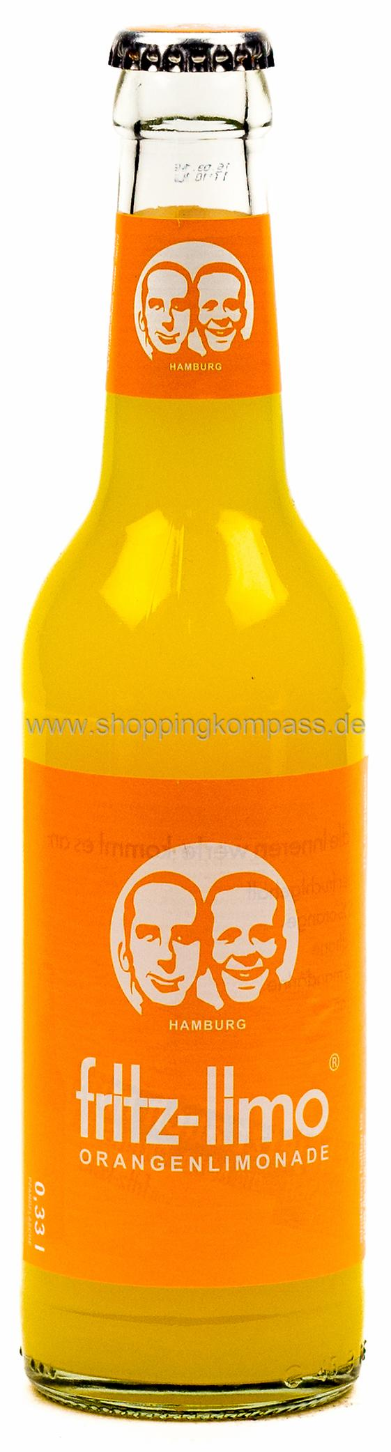 Fritz Limo Orange 0,33 l Glas Mehrweg