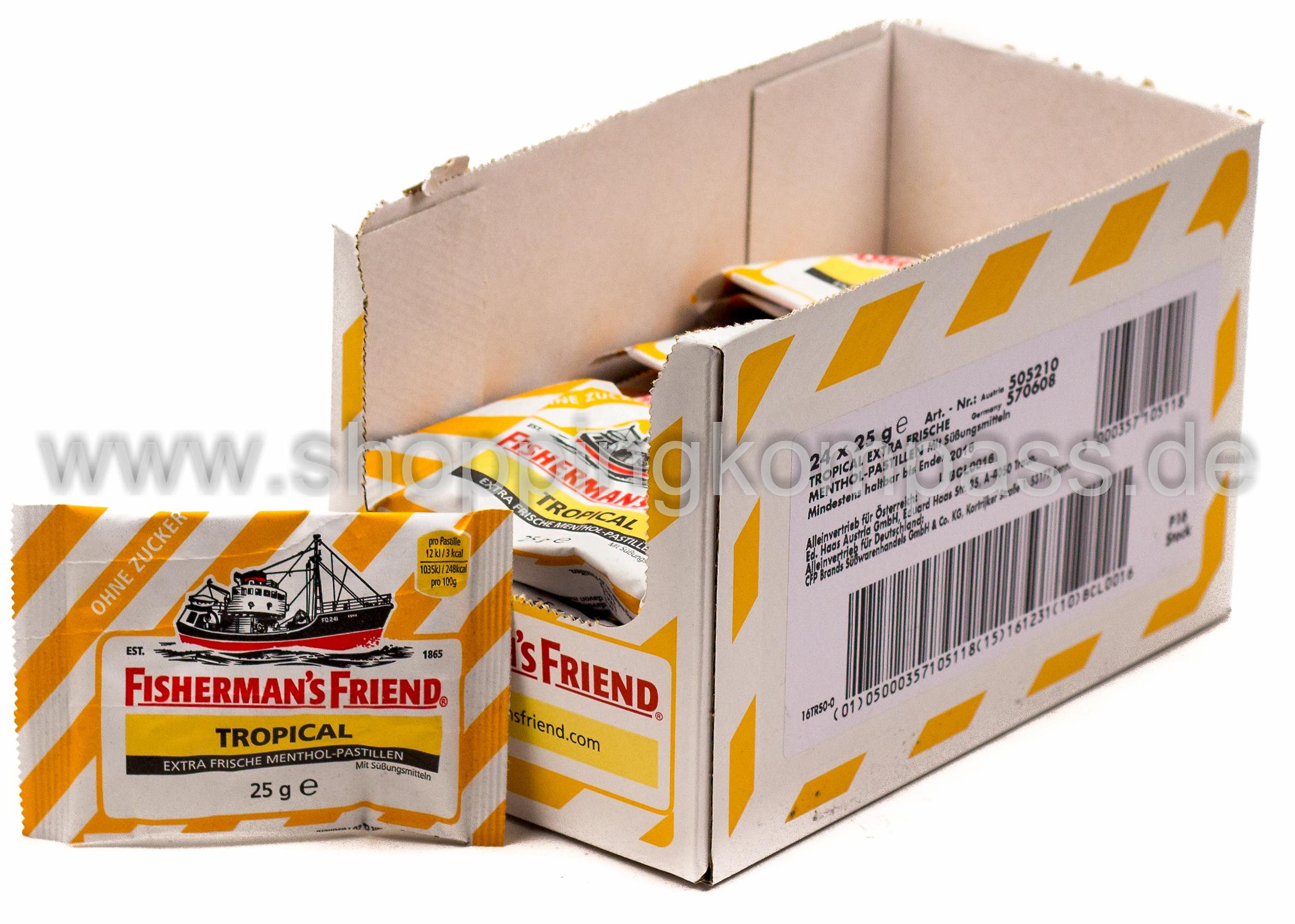 Fisherman's Friend Frische Tropical Pastillen Karton 24 x 25 g