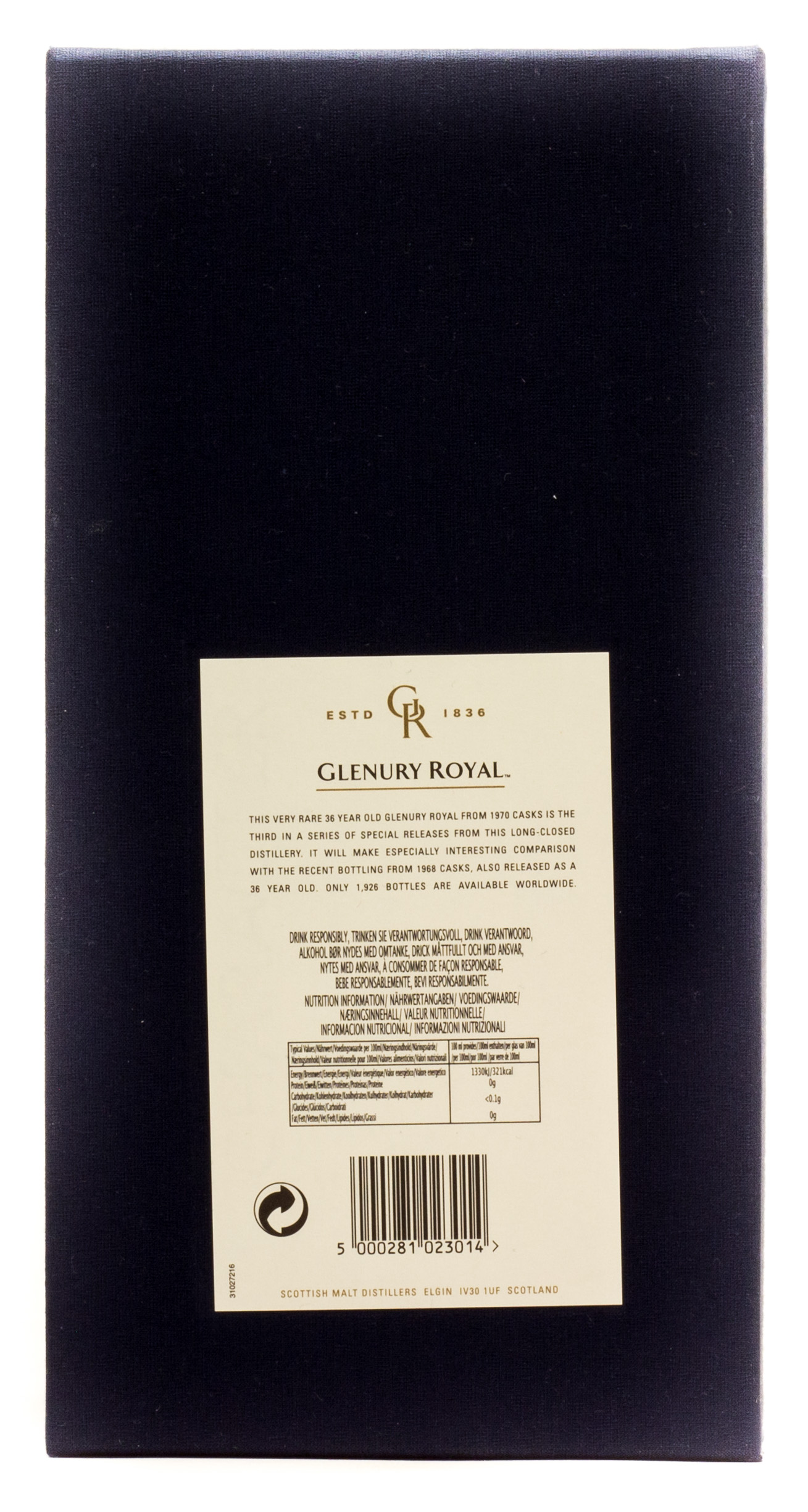 Glenury Royal Highland Single Malt Scotch Whisky 0,7 l