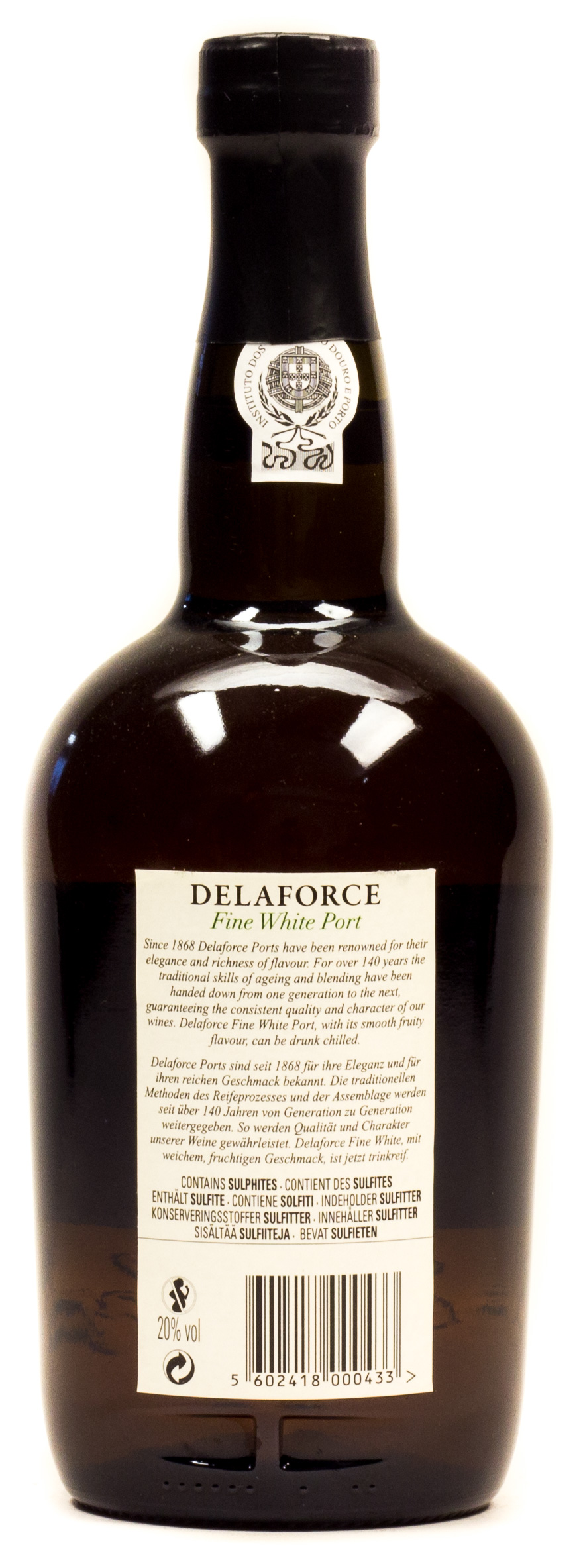 Delaforce Fine White Port 0,75 l Glas