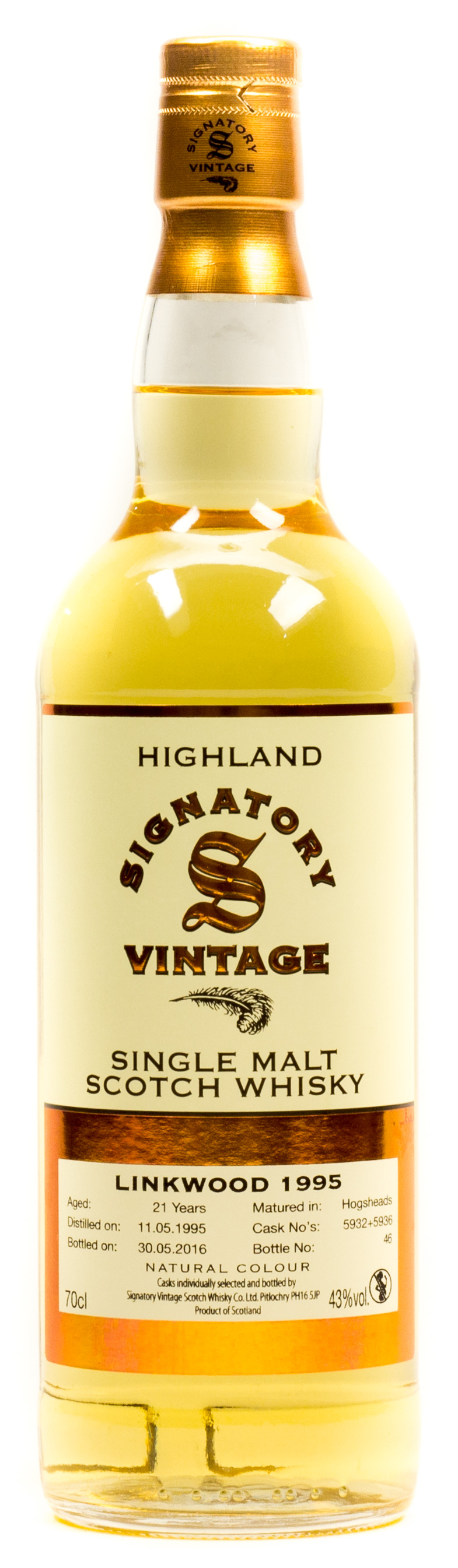 Signatory Vintage Linkwood 21 Years Single Malt Scotch Whisky 0,7 l