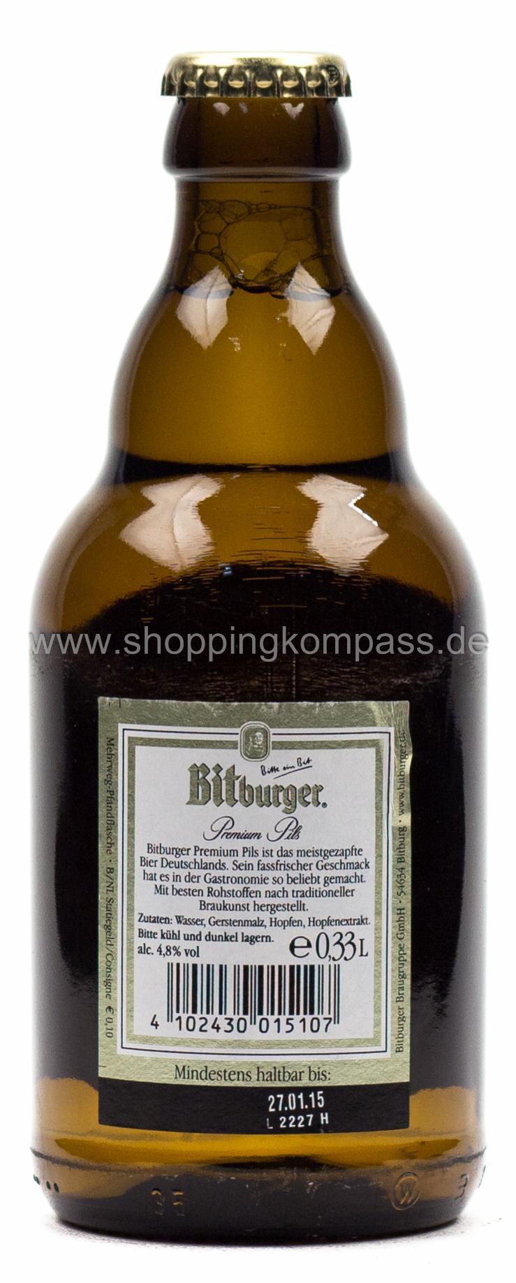 Pils Export Bitburger Pils Steini 033 L Glas Mehrweg