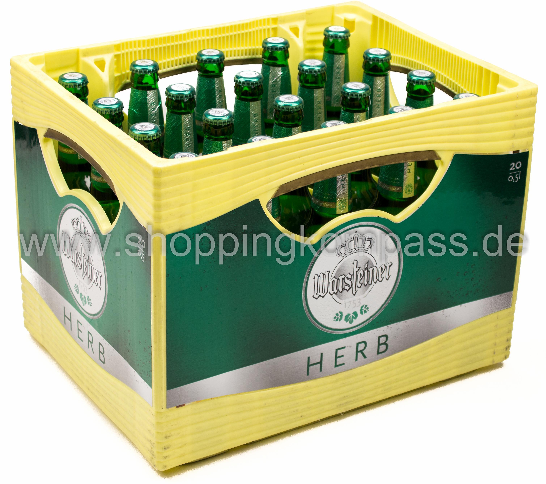 Warsteiner Herb Kasten 20 X 05 L Glas Mehrweg