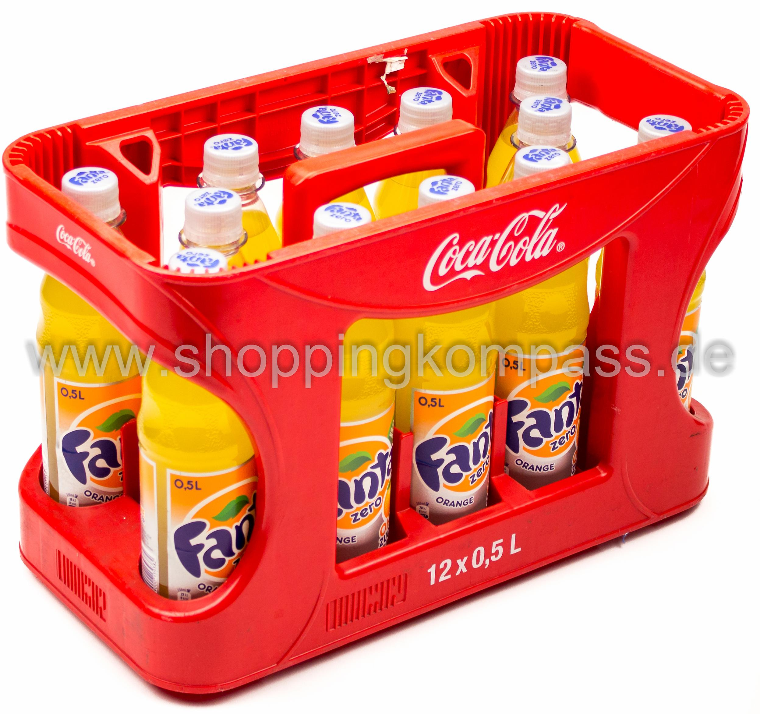Fanta Orange Zero Kasten 12 x 0,5 l PET Mehrweg