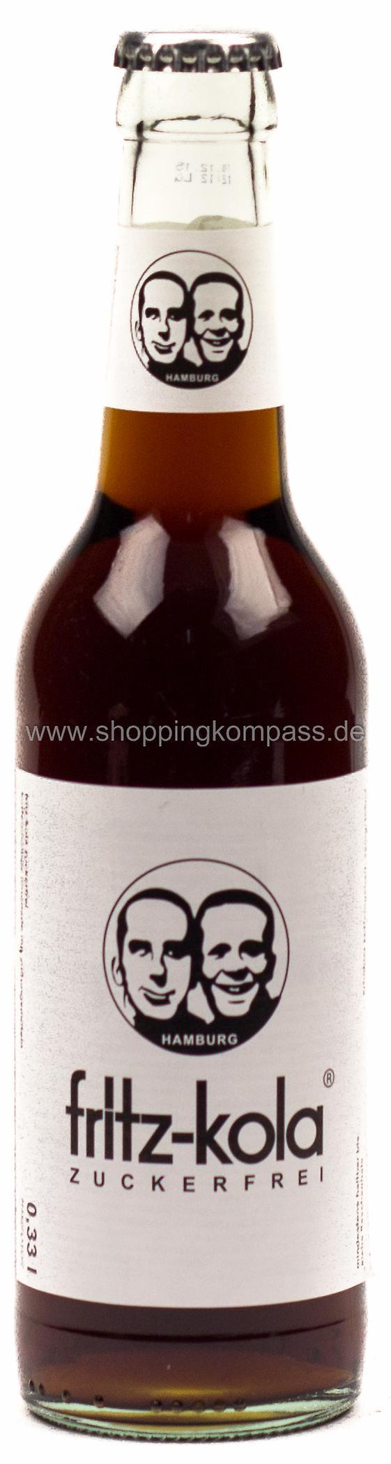Cola & Colamixgetränke - Fritz Kola Zuckerfrei 0,33 l Glas MW - Ihr ...