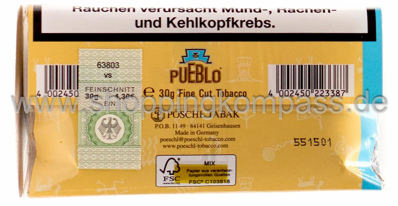 Loser Tabak - Pueblo ohne Zusätze Tabak 30 g - Ihr ...