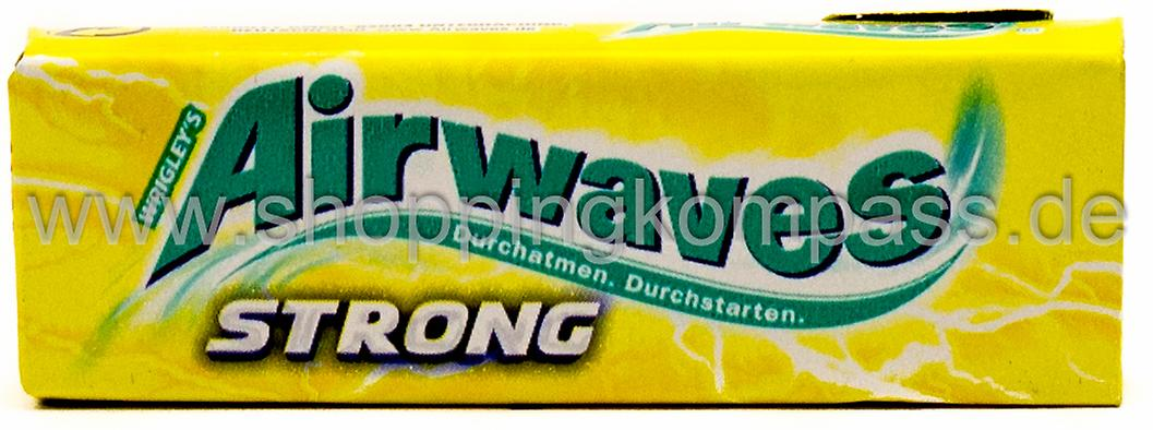 Wrigley's Airwaves Kaugummi Strong Menthol Lemon zuckerfrei 10 Dragees