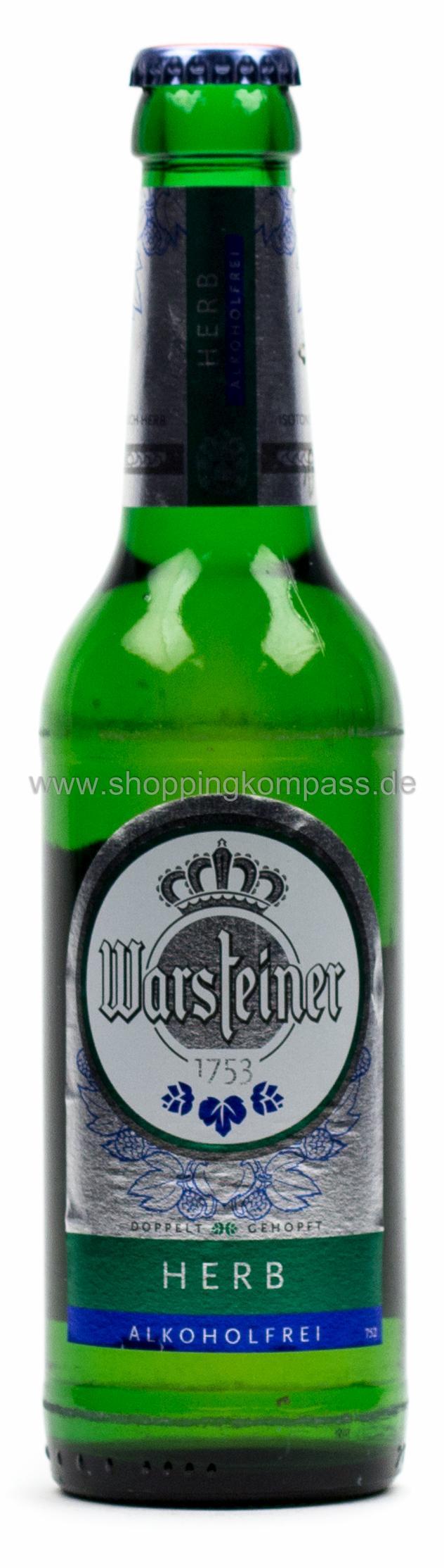 Warsteiner Herb Alkoholfrei 033 L Glas Mehrweg