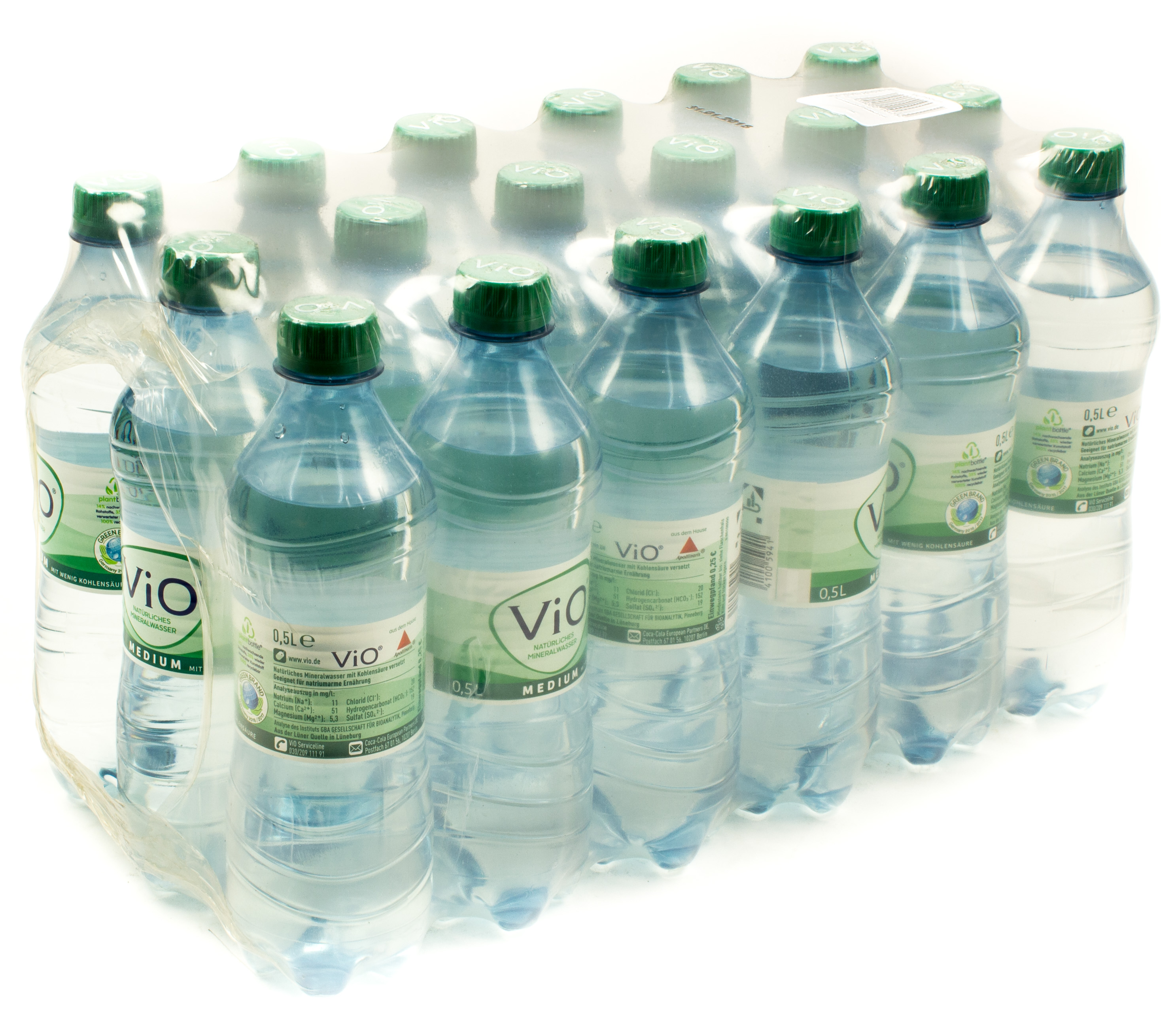 ViO Mineralwasser Medium 18 x 0,5 l PET Einweg
