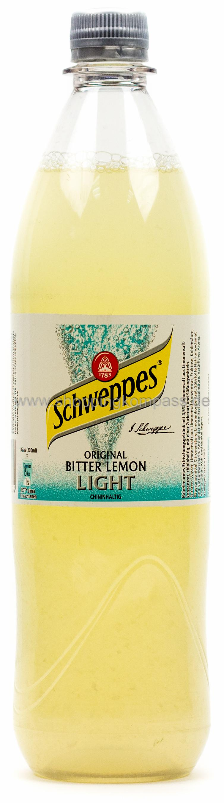 Schweppes Bitter Lemon Light 1 l PET Mehrweg