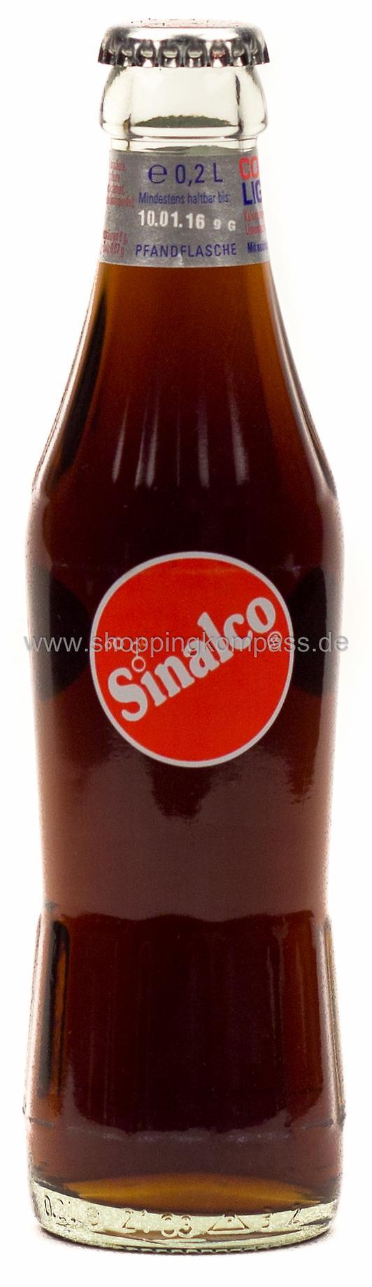 Flasche fürs Geschäftsmeeting Sinalco Cola 0,2 l Glas MW