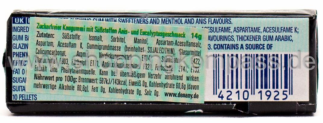 Wrigley's Airwaves Kaugummi Black Mint Flavour 10 dragees