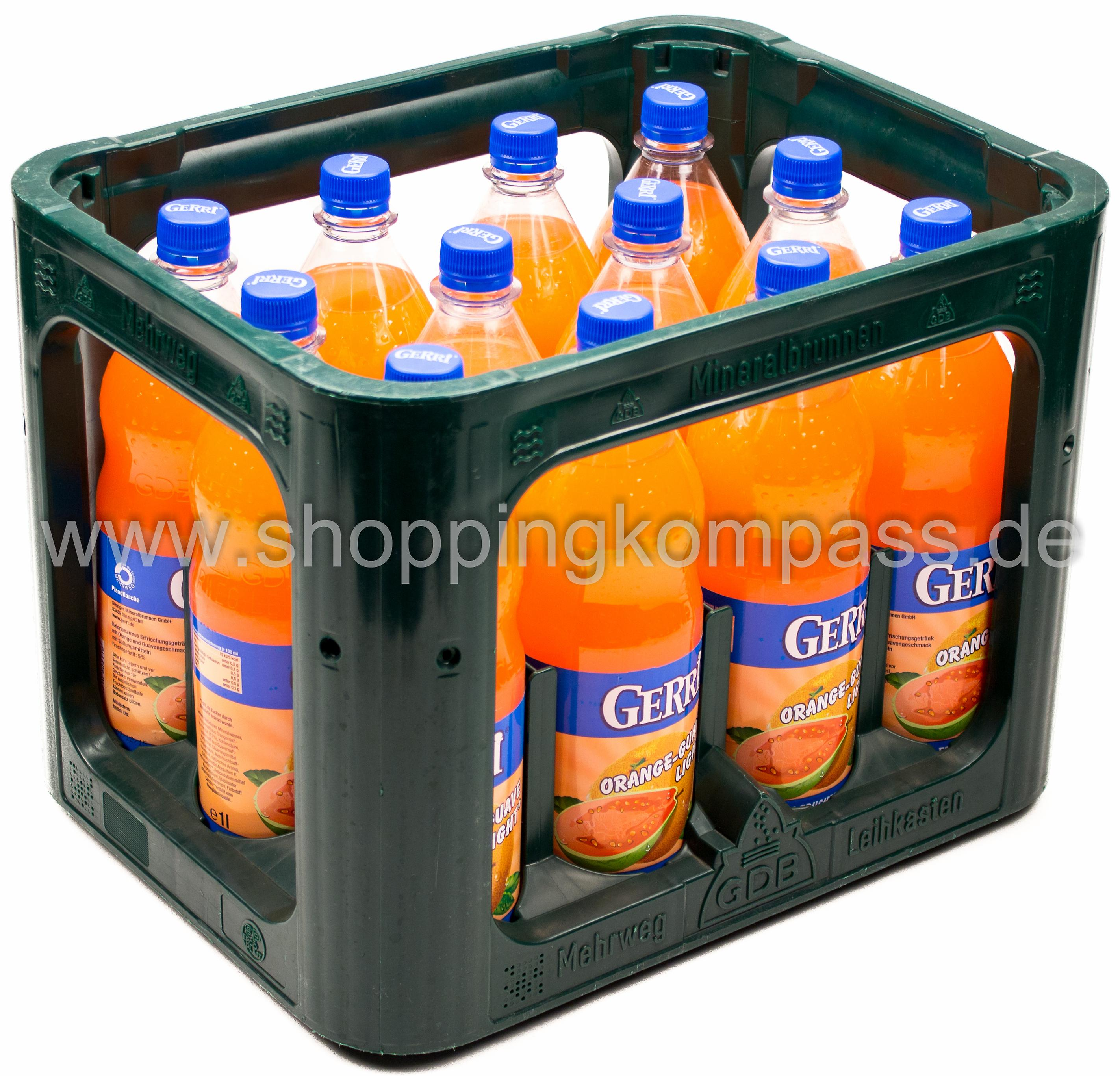 Gerri Orange Guave Light Kasten 12 x 1 l PET Mehrweg