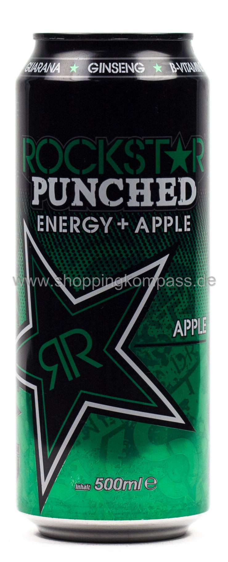 Rockstar Energy Drink Punched Apple 0,5 l Dose Einweg