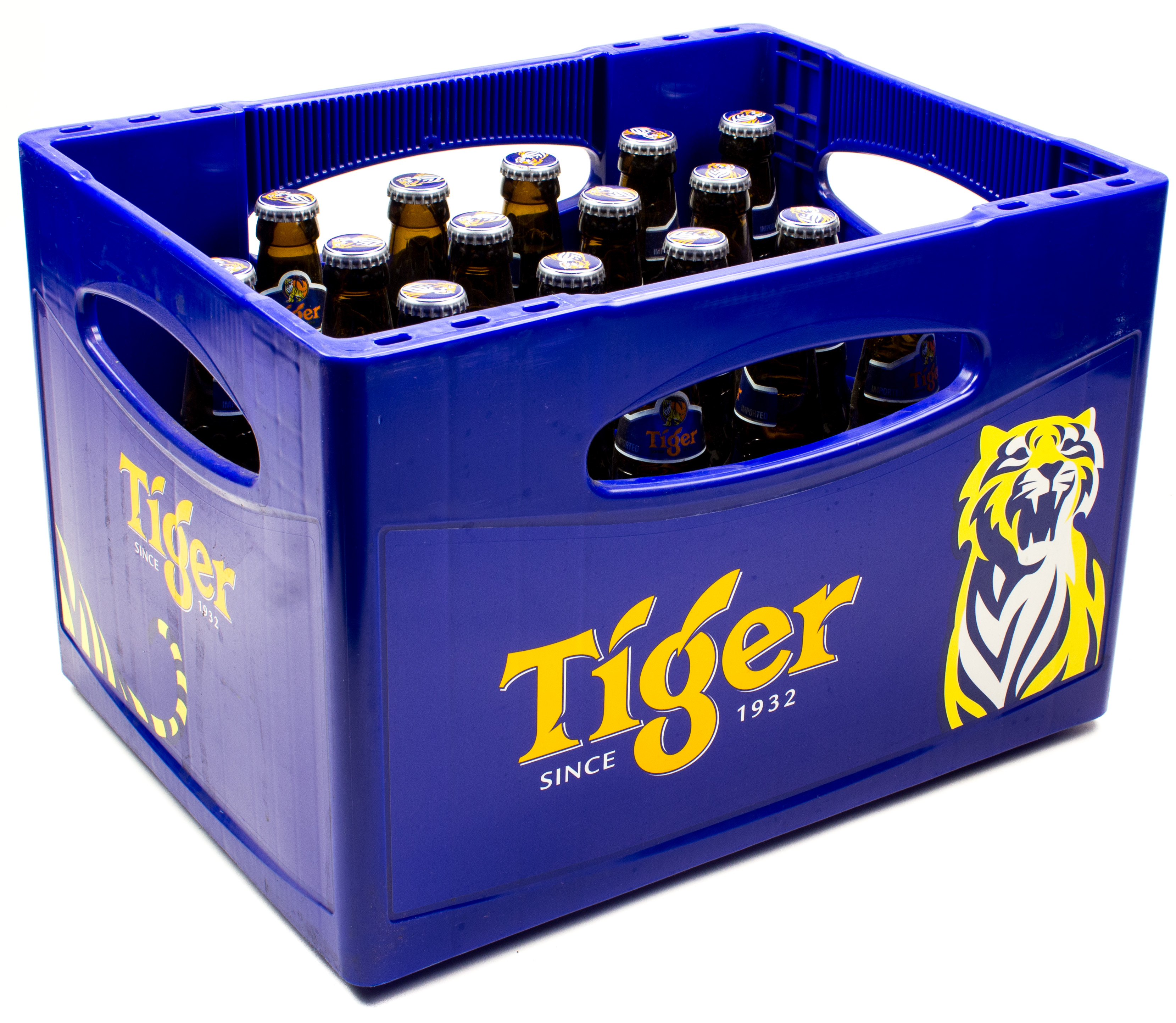 Tiger Lager Beer Kasten 24 X 033 L Glas Mehrweg
