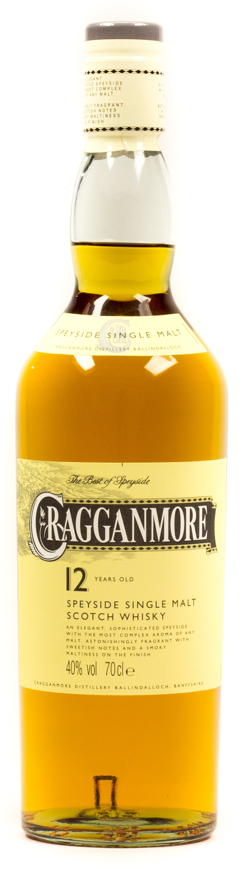 Cragganmore Speyside Single Malt Scotch Whisky 12 years 0,7 l