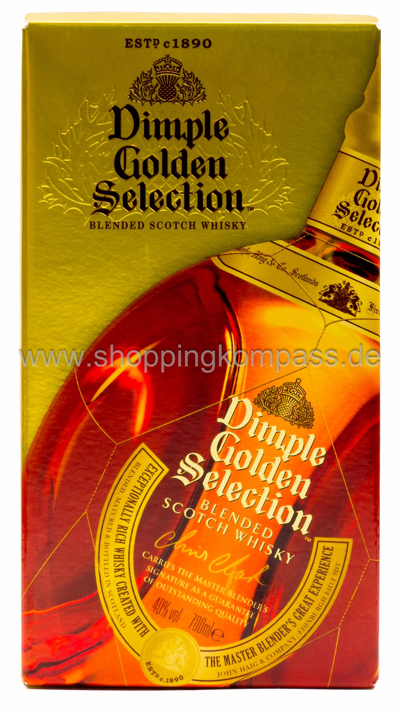 Dimpel Golden Selection Blended Scotch Whiskey 0,7 l Glas