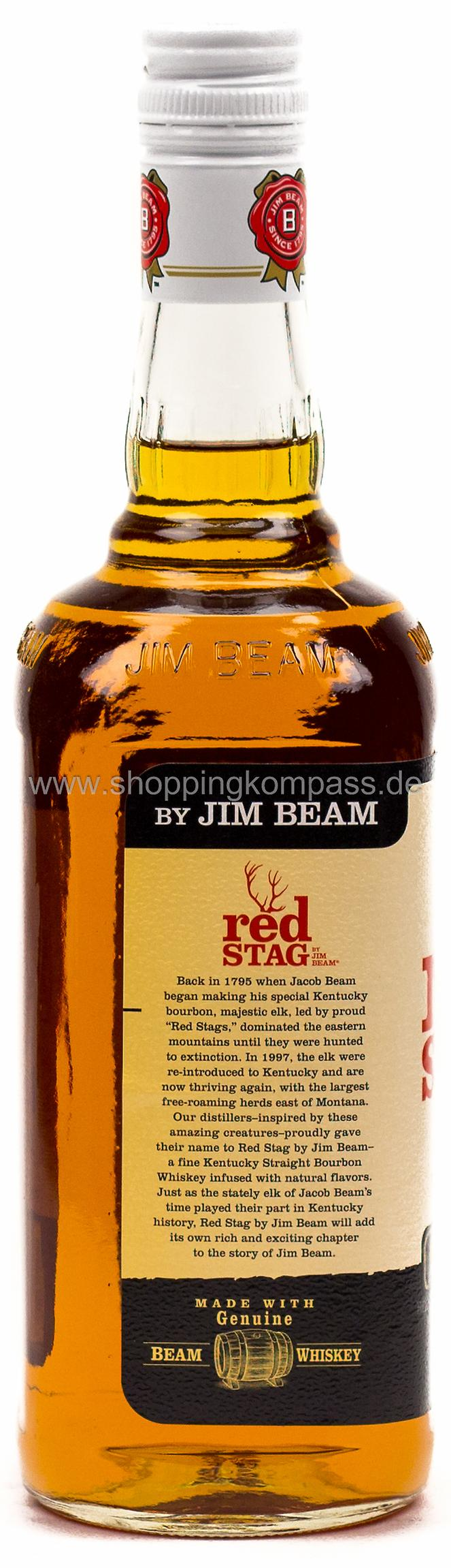 Jim Beam Bourbon Whiskey Red Stag Black Cherry 0,7 l