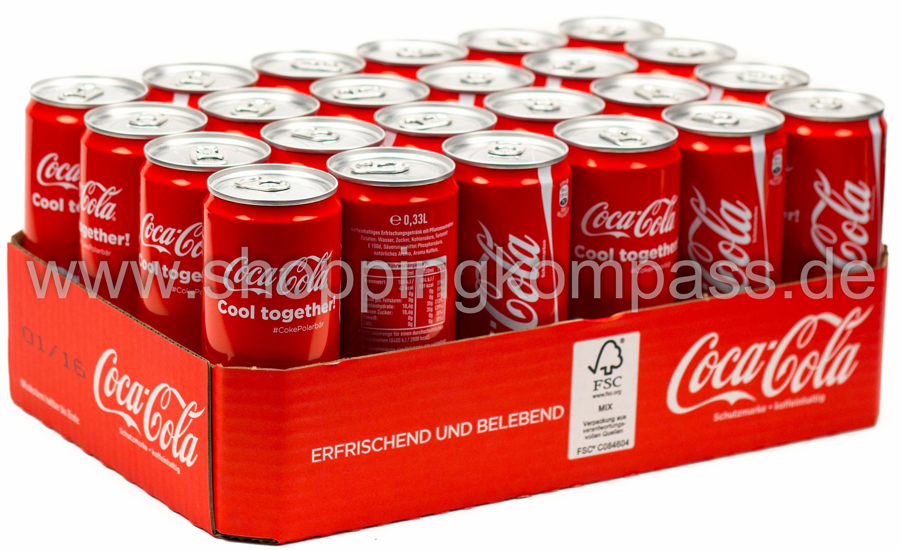 cola colamixgetr nke coca cola karton 24 x 0 33 l dose. Black Bedroom Furniture Sets. Home Design Ideas