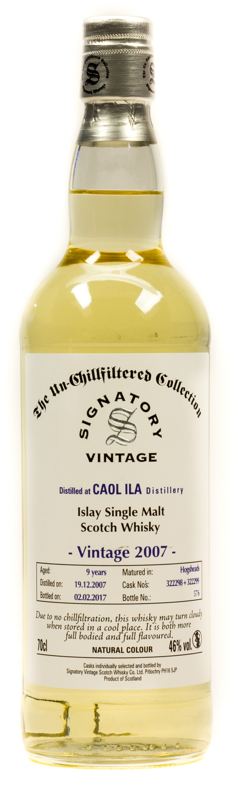 Signatory Vintage Caol Ila 9 Years Islay Single Malt Scotch Whisky 0,7 l