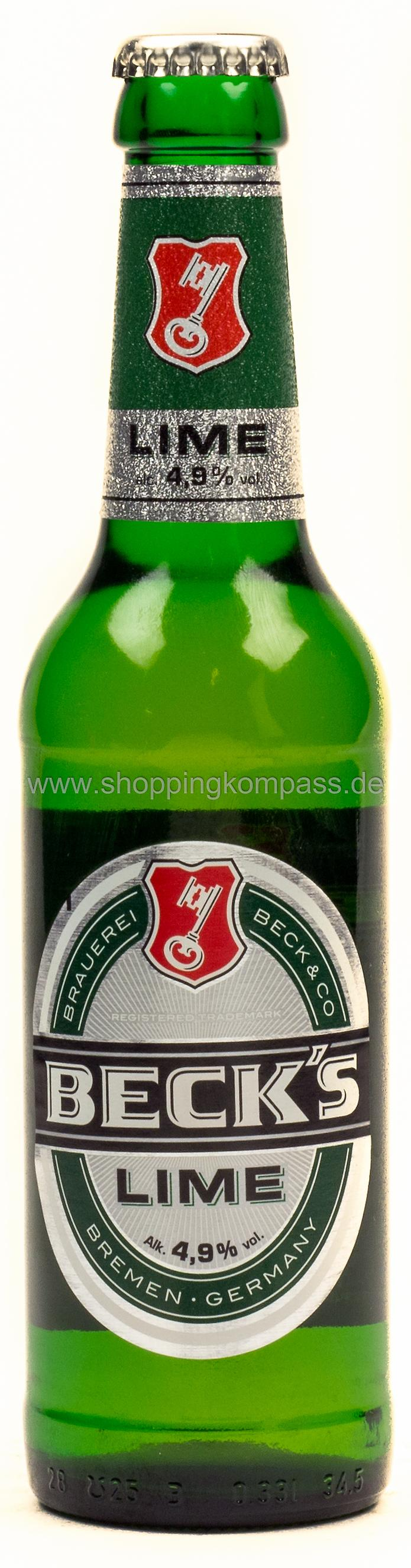 Becks Green Lime 0,33 l Glas Mehrweg
